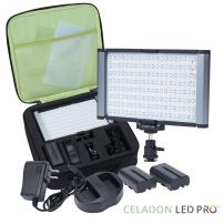 Radiant 2XL PRO 160 SMD LED Dimmable High Power CRI95+ Digital Camera/Camcorder/Video/Studio Light Kit with Rechargeable Batteries, Charger, Case