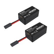 Bonadget 2000mAh 11.1v Li-ion Upgrade Replacement Battery Adapter Compatible with Parrot AR.Drone 2.0 Elite Edition(2 Pack)