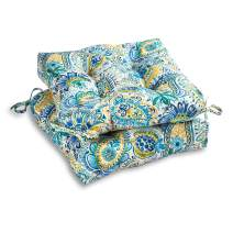 South Pine Porch AM6800S2-BALTIC Baltic Paisley Outdoor 20-inch Seat Cushion, Set of 2