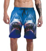 Goodstoworld Men's Cool Swimtrunks Quick Dry 3D Printed Casual Hawaiian Mesh Lining Beach Board Shorts with Pockets S-XXXL