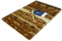 Madeira 1031 Canary Teak End-Grain Carving Board, Extra-Large