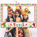 Large Size Cinco de Mayo Decorations Mexican Photo Booth Props Frame - Fiesta Party Supplies (Assembly Needed)
