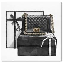"""The Oliver Gal Artist Co. Fashion and Glam Wall Art Canvas Prints 'Gifted Beauty' Home Décor, 24"""" x 24"""", Black, White"""