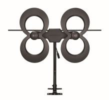 Antennas Direct Clearstream 4Max TV Antenna, 70+ Mile Range, UHF/Vhf, Multi-Directional, Indoor, Attic, Outdoor, Mast W/Pivoting Base/Hardware/Adjustable Clamp/Sealing Pads, 4K Ready, Black – C4MVJ