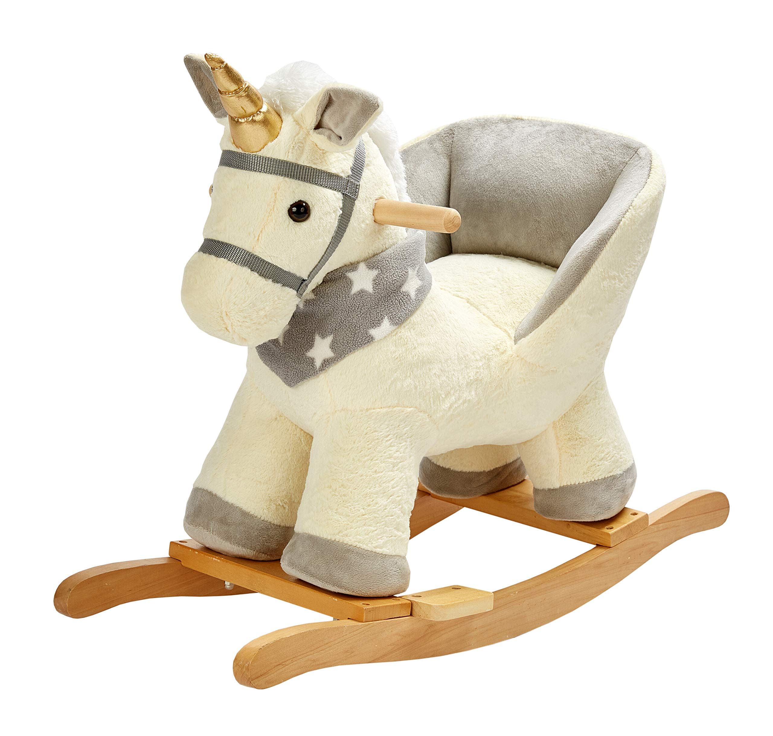 Rock My Baby Baby Rocking Horse Unicorn With Chair Unicorn Rocker Wooden Rocking Unicorn Baby Rocker Animal Ride On For Toddlers Boys Girls Age 1 Year And Up Cream Unicorn For