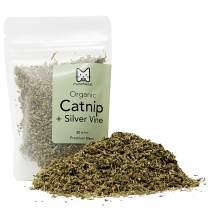 munchiecat Organic Catnip with Silvervine, USA Grown, Leaf and Flower Premium Blend