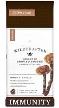 Wildcrafter Botanicals Organic Ground Coffee - Herbal Coffee Blend Infused with Elderberry, Astragalus Root & Reishi Mushroom to Support Your Immune System. Includes 12 Ounces of Dark Roast, Organic Ground Coffee