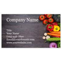 """Premium Personalized Business Cards 3.5"""" x 2"""" - 100 Cards - 14Pt, Recycled, 28PT Business Cards - All Business Designs - 40+ Designs - 100% Made in the U.S.A. - Same Day Shipping (Veggie Delight)"""