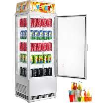 VBENLEM 98L Countertop Display Refrigerator,3-1/2 cu. ft.Capacity Commercial Beverage Cooler,Detachable light box with LED Lighting,Adjustable Shelves,White,For Supermarket Bar Office,32-53.6℉