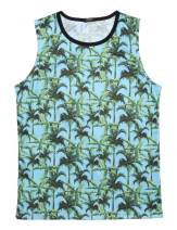COOFANDY Men's Floral Tank Tops All Over Print Sleeveless Shirt Hawaiian Aloha Shirts Beach Holiday