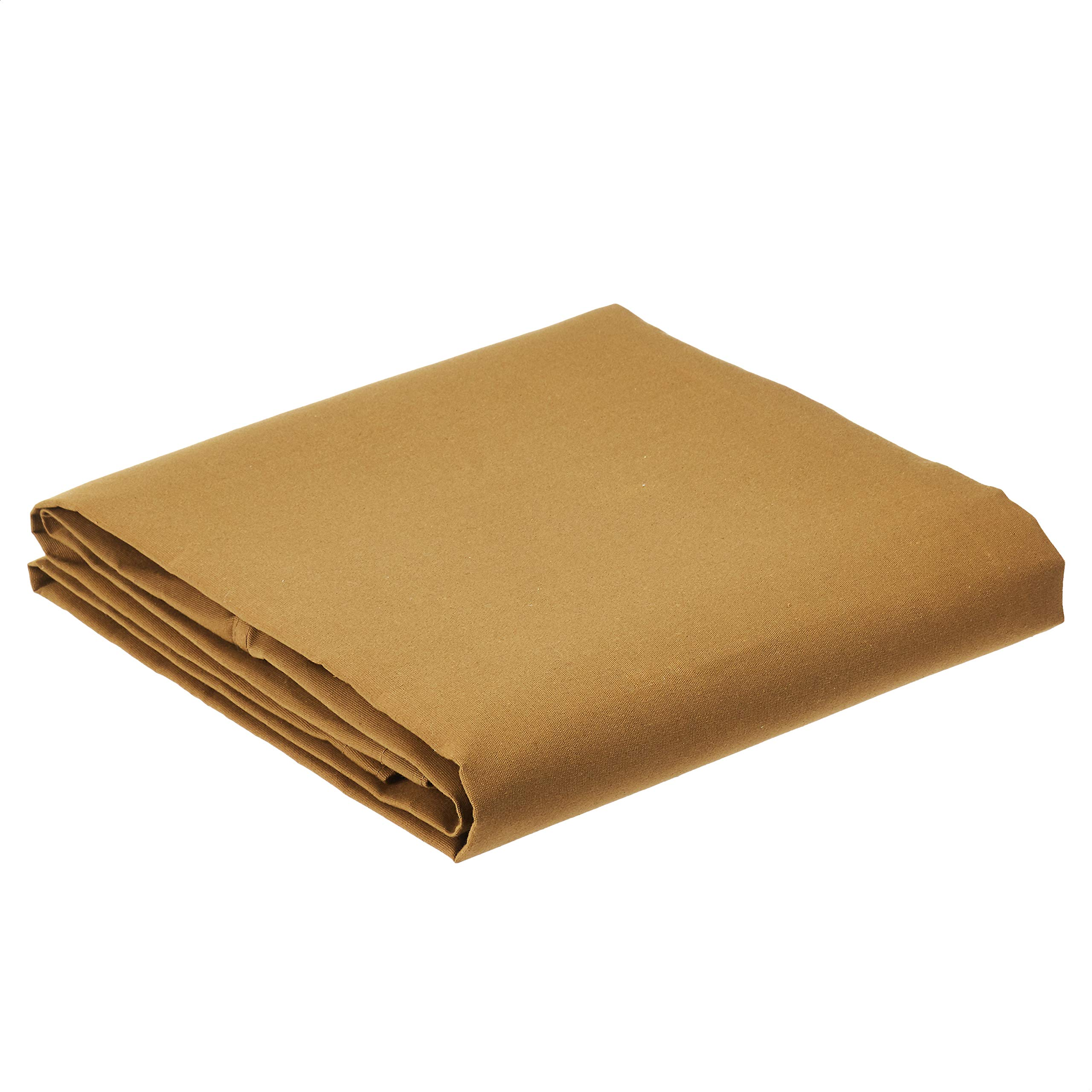 AmazonCommercial Heavy Duty Water Resistant Canvas Tarp, Tan, 12x20ft, 1-Pack