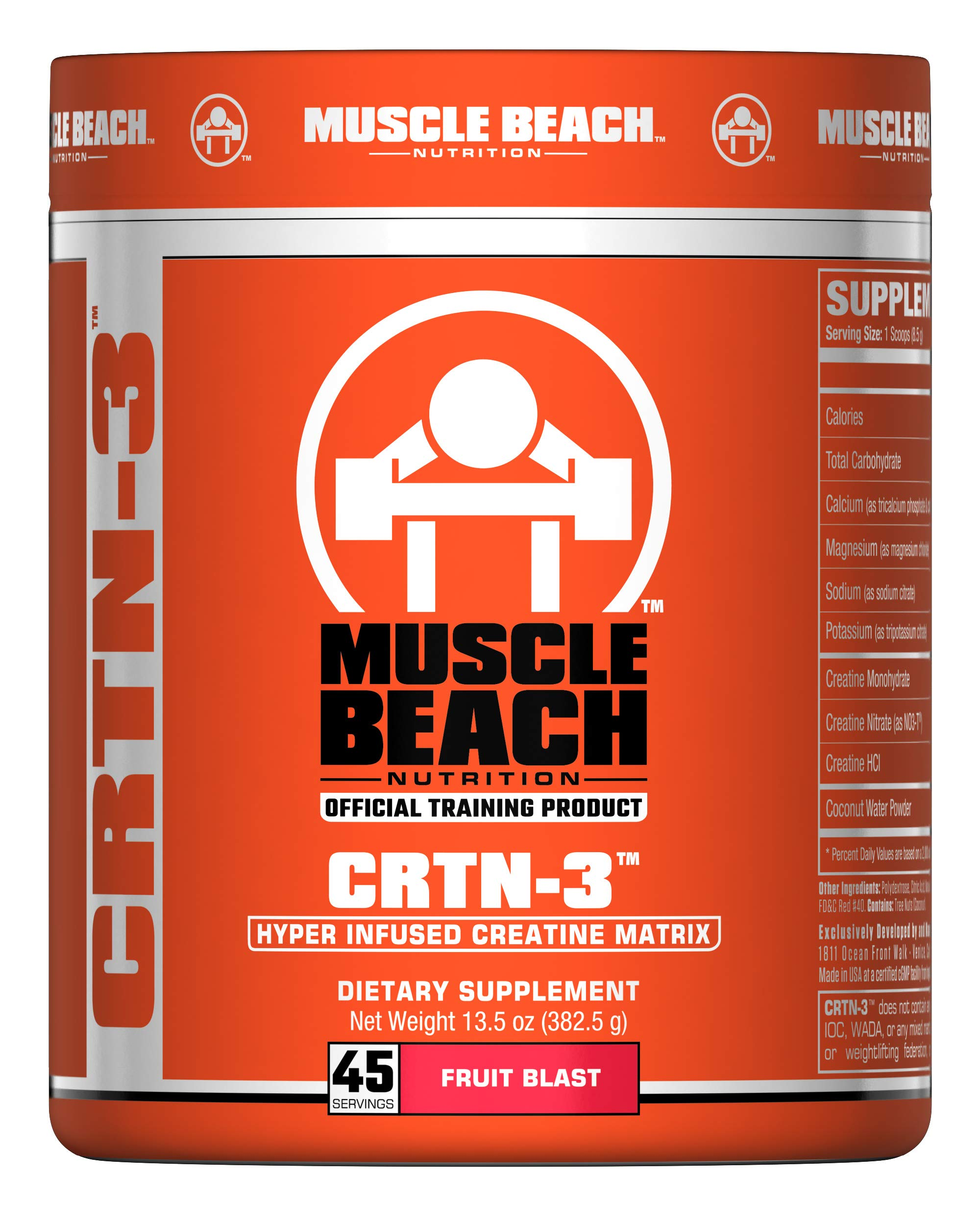 Muscle Beach Nutrition CRTN-3 45 Servings (Fruit Blast)