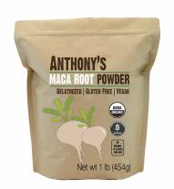 Anthony's Organic Maca Root Powder, 1 lb, Gelatinized for Enhanced Bioavailability, Gluten Free & Non GMO