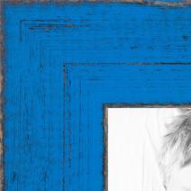 ArtToFrames 8x12 inch Distressed Bright Blue Wood Picture Frame, WOMSM-ECO095-BBU-8x12