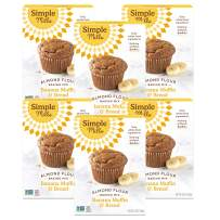 Simple Mills Almond Flour Baking Mix, Gluten Free Banana Bread Mix, Muffin Pan Ready, Made with whole foods, 6 Count (Packaging May Vary)