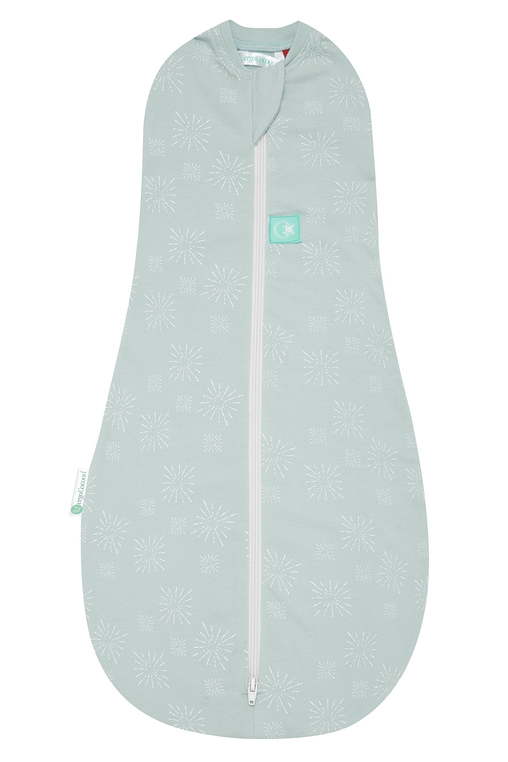 ergoPouch 1 tog Cocoon Swaddle Bag- 2 in 1 Swaddle Transitions into arms Free Wearable Blanket Sleeping Bag. 2 Way Zipper for Easy Diaper Changes