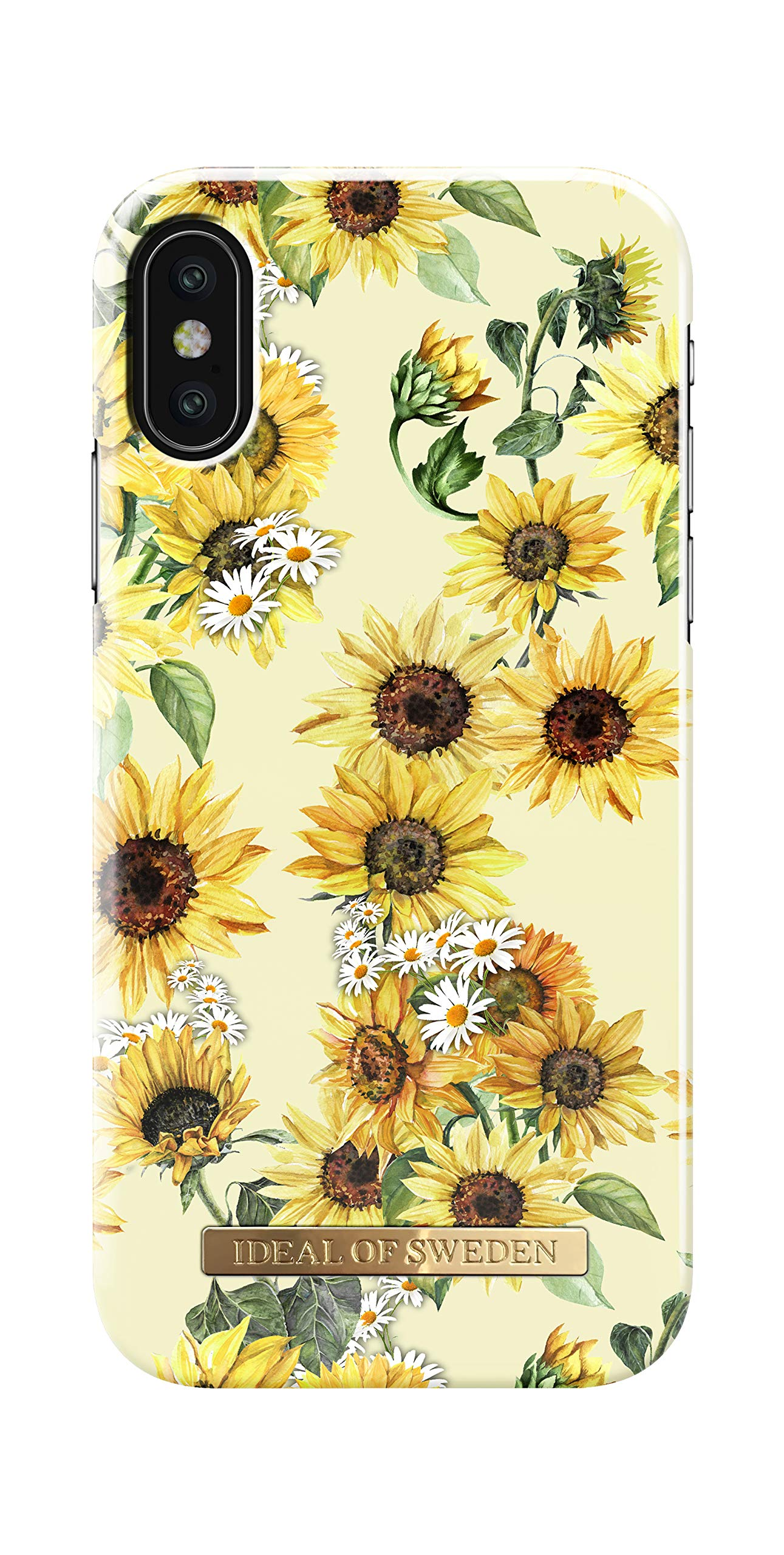 iDeal Of Sweden Mobile Phone Case for iPhone X/iPhone Xs (Microfiber Lining, Qi Wireless Charger Compatible) (Sunflower Lemonade)