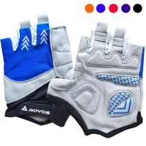 ROVOS Bike Gloves Men/Women Cycling Gloves Bicycle Gloves Bicycling Gloves Half Finger Breathable Mountain Sports Cycling Gloves