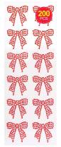 Baker Ross Self Adhesive Jewelled Bows, Embellishments for Kids Arts and Crafts (Pack of 12)
