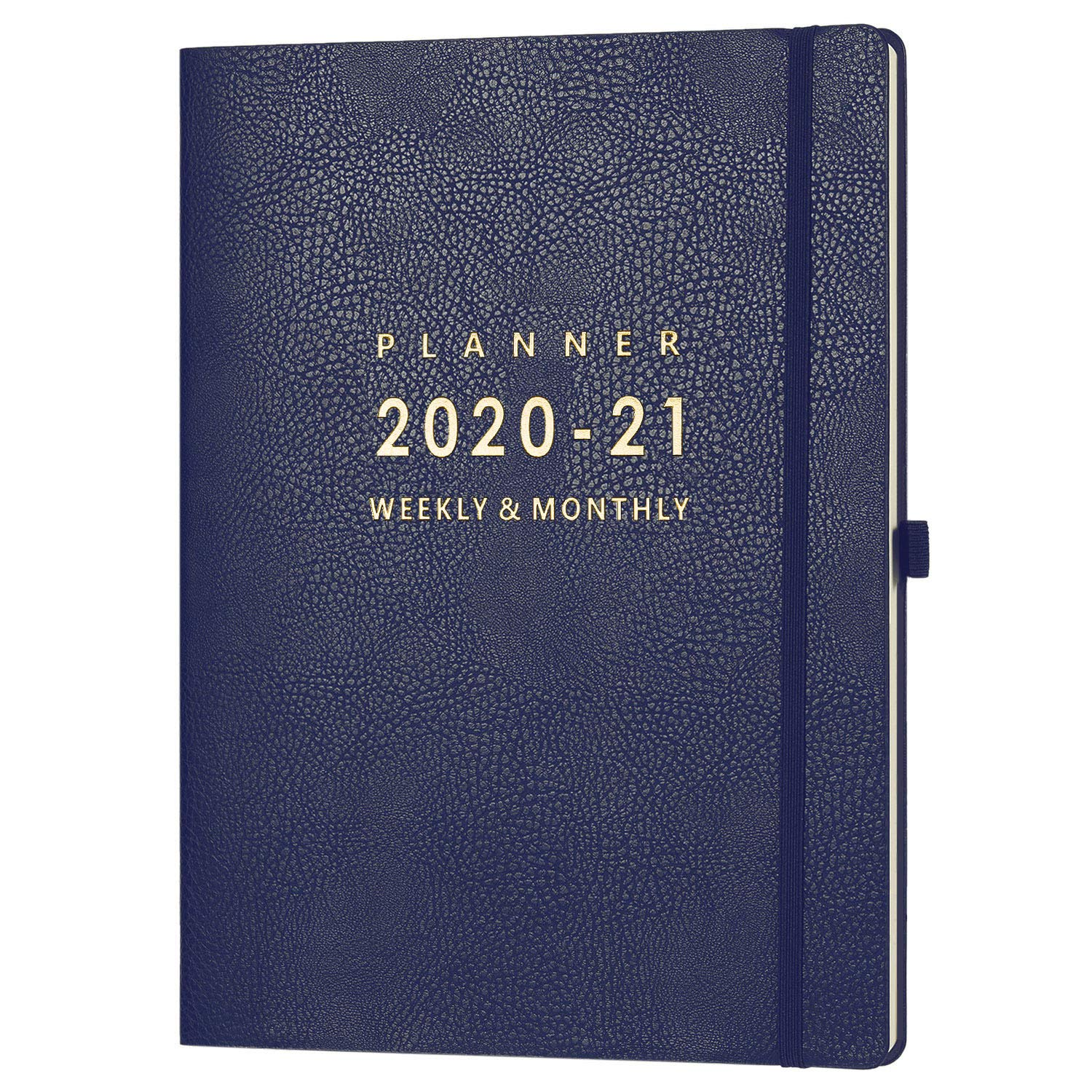 """July 2020 - June 2021 Planner with Pen Holder - 8.5"""" x 11"""" Weekly & Monthly Planner with Calendar Stickers, July 2020 - June 2021, Inner Pocket with 24 Notes Pages, A4 Premium Thicker Paper"""
