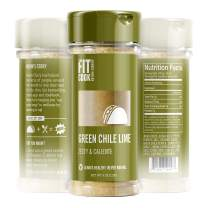 The Fit Cook Green Chile Lime Spice and Seasoning Blend: Zesty & Caliente Health-conscious Hand-Crafted Seasoning - Gluten & Grain Free, Vegan & Keto Friendly Spice - Perfect for Tacos or any meal