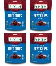 Rhythm Superfoods Beet Chips, Sea Salt, Organic and Non-GMO, 1.4 Oz (Pack Of 4), Vegan/Gluten-Free Superfood Snacks