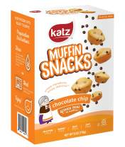 Katz Gluten Free Chocolate Chip Muffin Snacks | Dairy Free, Nut Free, Soy Free, Gluten Free | Kosher (6 Packs, 6 Ounce Each)
