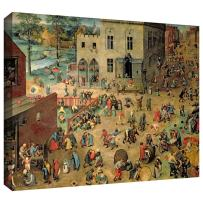 ArtWall Pieter Bruegel 'Children's Games' Gallery Wrapped Canvas Art, 36 by 48-Inch
