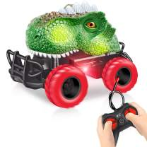 HahaGift Dinosaur Toys Gifts for Kids 5-7 Year Old, Remote Control Car for Kids 5-8 Year Old Boys, 3 4 5 6 7 Year Old Boys Birthday Gifts (Green)