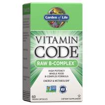 Garden of Life Vitamin B Complex - Vitamin Code Raw B Complex - 60 Vegan Capsules, High Potency B Complex Vitamins for Energy & Metabolism with B6, Folate & B12 as Methylcobalamin plus Probiotics