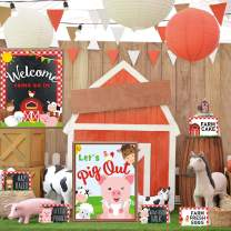 Farm Animal Party Food Labels Tent Cards Barnyard Theme Thank You Tags Welcome Pig Out Gift Table Sign Decoration Birthday Centerpiece Supplies