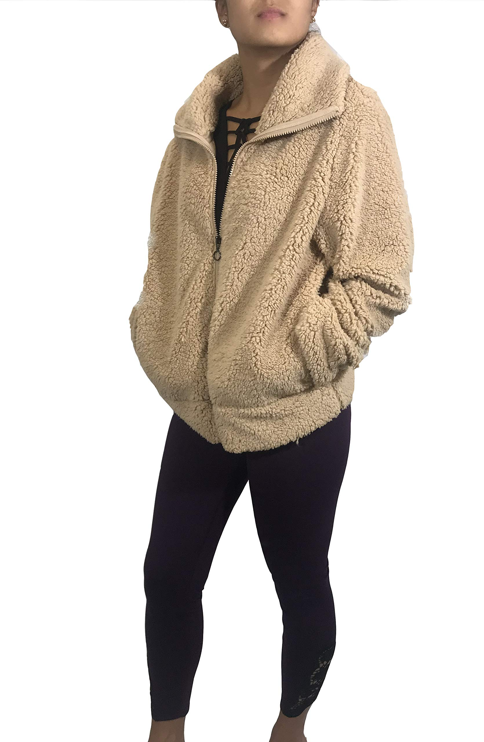 Nanette Lepore Womens Cropped Sherpa Cuddle Up Jacket