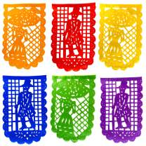 TexMex Fun Stuff Day of The Dead Fiesta 2 Pack of Party Banners - Paper Rainbow Vertical Garlands (34 Feet Total) Catrin and Catrina Fiestas