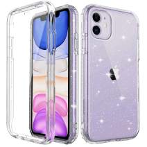 "Cubevit iPhone 11 Shockproof Glitter Case with Built-in Screen Protector, Slim Fit Anti-Drop Anti-Scratch Full-Body Protective Phone Case, [Lifetime Premium Quality] Bumper Case Cover 2019 (6.1"")"