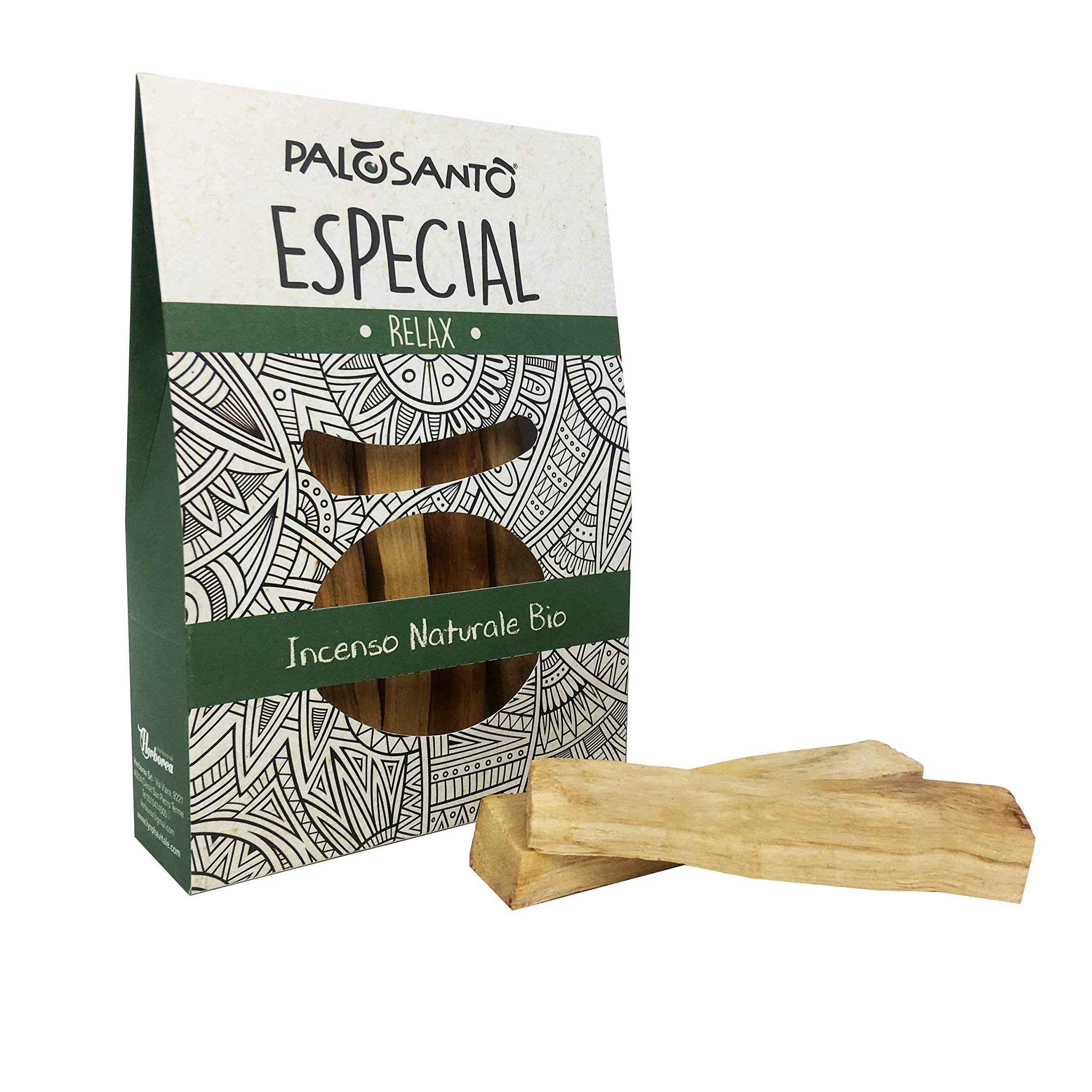 Palo Santo Sticks from Perù – Especial Quality – Larger and Thicker Natural Incense Sticks - Wild Harvested & Sustainably Sourced - Original Bursera Graveolens Holy Wood - 5 Sticks
