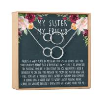 Sister Necklace - Sister Gift, Gift for Sister, Sister Birthday Gift, Big Sister Gift, Giggles, Secrets, Heartfelt Card & Jewelry Gift for Birthday, Holiday & More