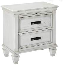 """Coaster Home Furnishings Nightstand, 28""""D x 15.5""""W x 28""""H, Antique White"""