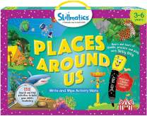 Skillmatics Educational Game: Places Around Us (3-6 Years) | Search and Find Activities for Kids | Fun Learning and Activity Games | Erasable and Reusable Mats