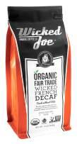 Wicked Joe Organic Coffee French Decaf Ground, 12 Ounce