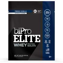 Bipro Elite 100% Whey Isolate Protein Powder, Vanilla, to-go Box (12 Single-Serve Packets)