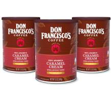 Don Francisco's Caramel Cream Flavored Ground Coffee, 100% Arabica (3 x 12 Ounce Cans)
