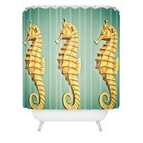 "Deny Designs Shannon Clark Seahorse Shower Curtain, 69"" x 72"""