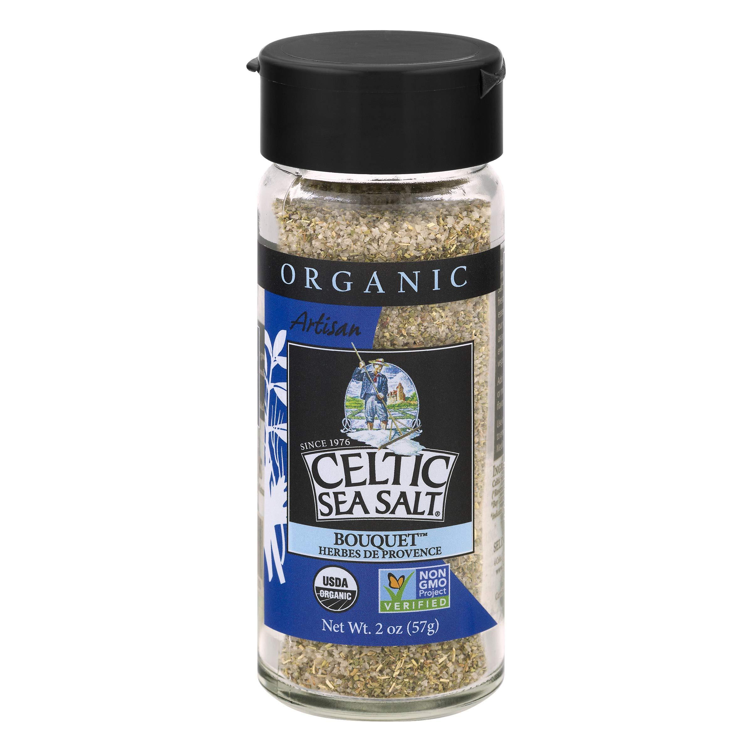 Gourmet Celtic Sea Salt Organic Herbes De Provence Shaker – Classic, Versatile Herbes De Provence Blend of Herbs and Salt, Hand Crafted and Organic, 2 Ounces