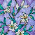 """Coavas Stained Glass Window Film Privacy Decorative Static Cling Film Non-Adhesive Frosted Glass Film for Home 35.6"""" x 78.7"""""""