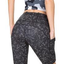 Running Shorts for Women High Waist Pants Yoga Leggings Biker Workout Shorts with 3 Pockets Regular Plus Size