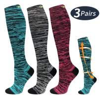 Compression Socks for Women and Men 20-30 mmHg for Running, Pregnancy, Travel, Nursing
