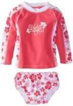 Baby Banz Baby Girls' Long Sleeve Rash Guard and Swim Diaper