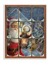 The Stupell Home Décor Collection Holiday Santa Claus in The Windowpane with Lantern Painting Wall Plaque Art, 10 x 15, Multi-Color