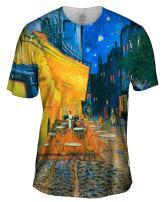Yizzam- Vincent Van Gogh - The Terrace Café On The .-Tshirt- Mens Shirt 1517