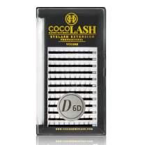 COCO Honey Lash Eyelash Extensions, Volume D Curl [6D] [0.07mm], Faux Mink Individual Lash Extensions (Length: 8-14mm, MIX)